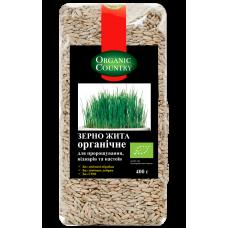 Зерно ржи органическое для проращивания, отваров и настоев, 400 г, Украина, ORGANIC COUNTRY