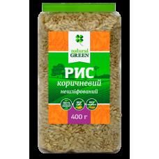 Рис коричневый цельнозерновой нешлифованный, 400 г, NATURAL GREEN
